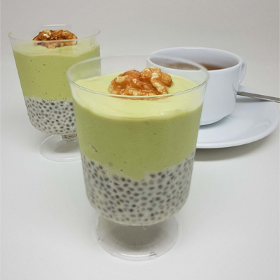 Oat Avocado Chia Pudding